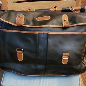 Calvin Klein Leather Luggage Shoulder Bag.